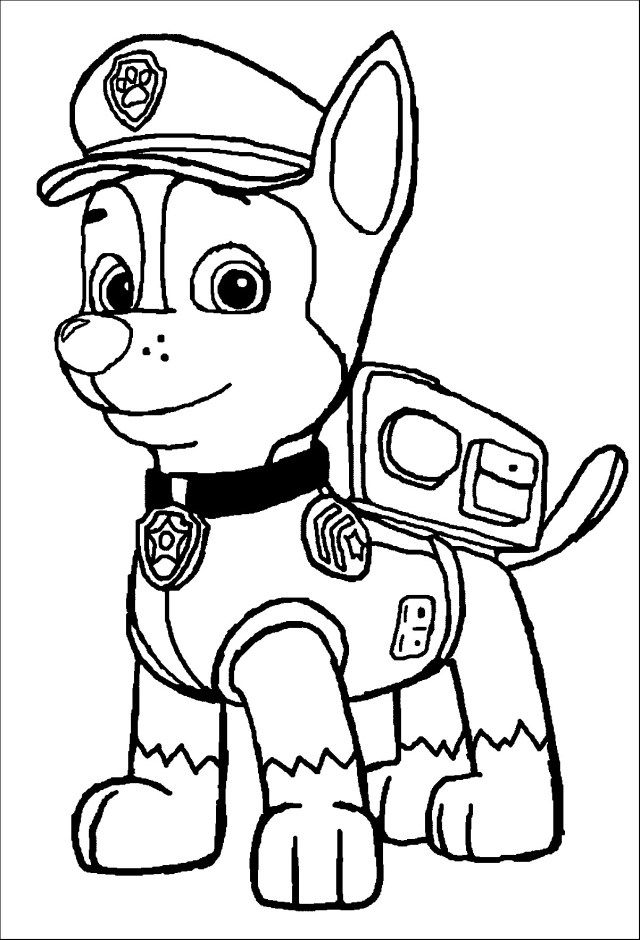 Download Or Print This Amazing Coloring Page 13 Pics Of Chase Paw