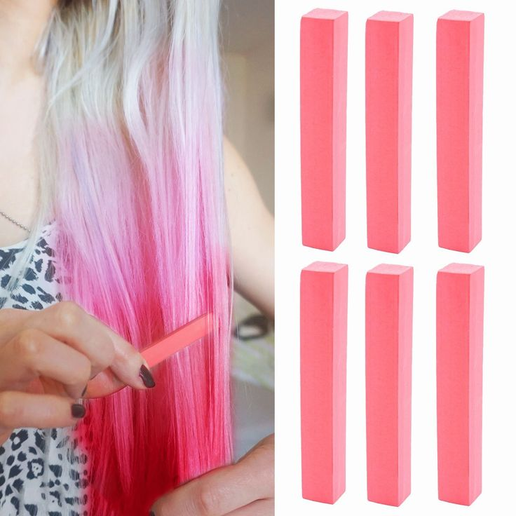 Strawberry Blonde Hair Dye | Candy Red Hair Color With Shades of Raspberry Pink Set of 6 Temporary Hair Color | Color your Hair Strawberry Blonde in seconds with temporary HairChalk >>> Want to know more, click on the image. #hairaccessories