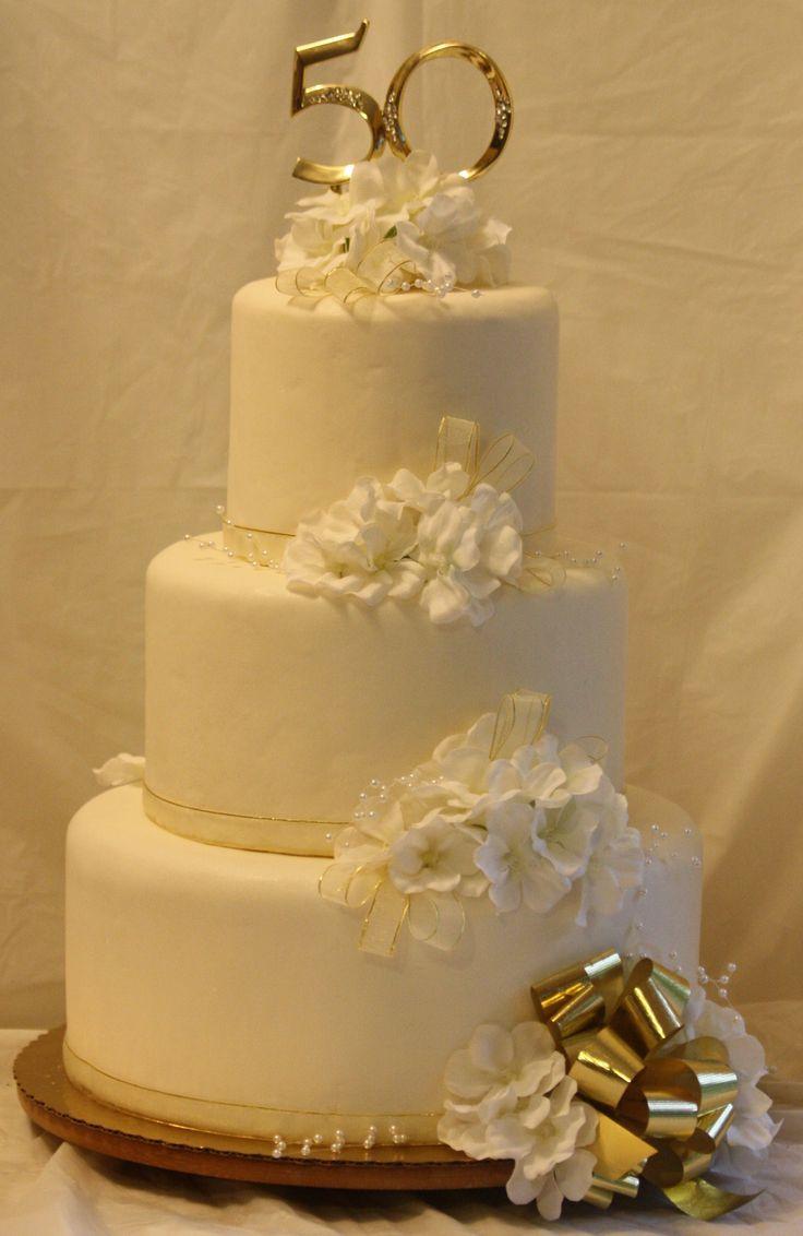 50th Wedding Anniversary Cake Bodas De Oro Ideas