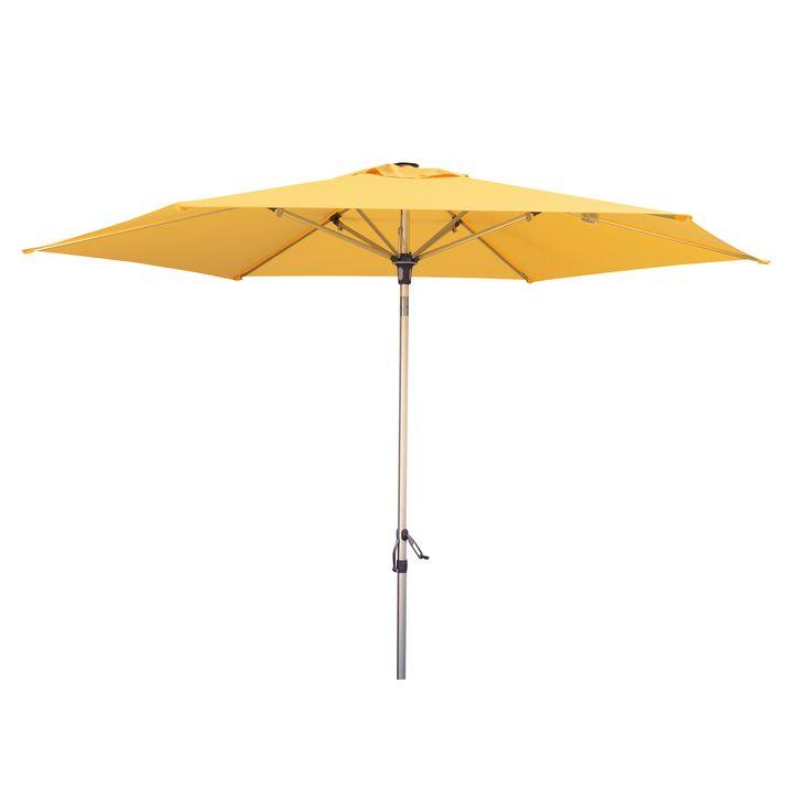 parasol geel, yellow umbrella Tuinmeubelen.nl