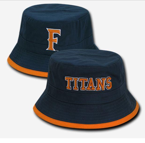 Cal State University Fullerton Titans CSUF Bucket Bonnie Sun Hat Fishing Cap