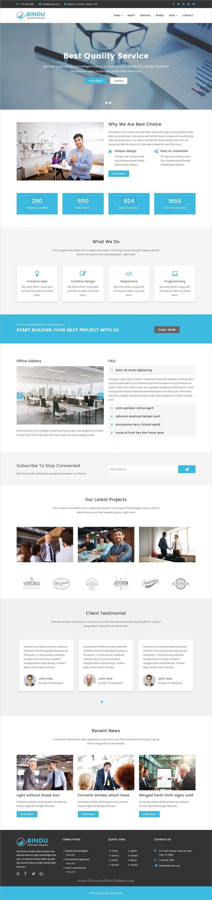 Bindu is a multipurpose #HTML5 template for corporate #business website with #w3c valid and has working #Ajax contact form download now➩ https://themeforest.net/item/bindu-multipurpose-html5-template/19793586?ref=Datasata
