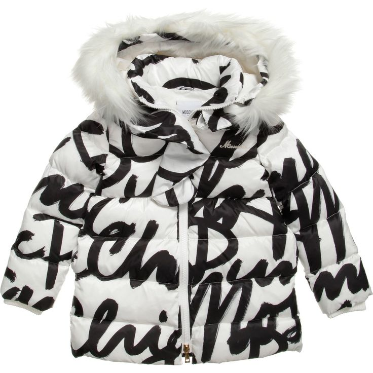Moschino Signature Down Padded Coat  at Childrensalon.com | Considering this even though it's childrenswear??? - Soph
