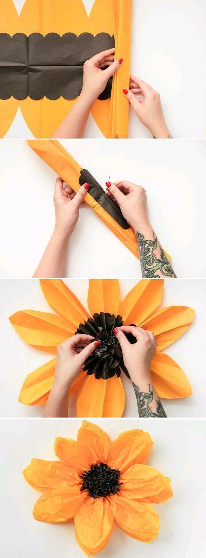 Utiliza papel de seda (papel de China o papel tissue) para crear distintas decoraciones de gran utilidad para tu próxima fiesta. Este tipo... #decoracionfiestas