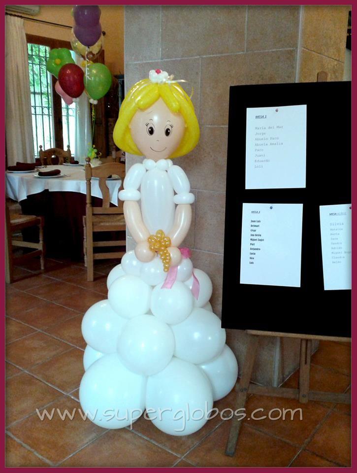 Primera comunion mu ecas con globos pinterest - Como decorar un salon para comunion ...