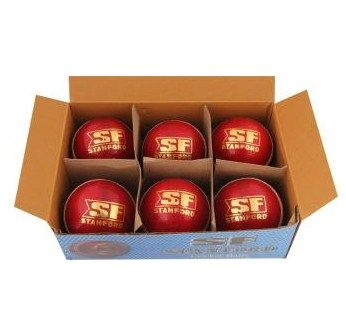 SF Yorker Cricket Ball - Size: 5.5, Diameter: 4.5 cm(Pack of 6, Red)