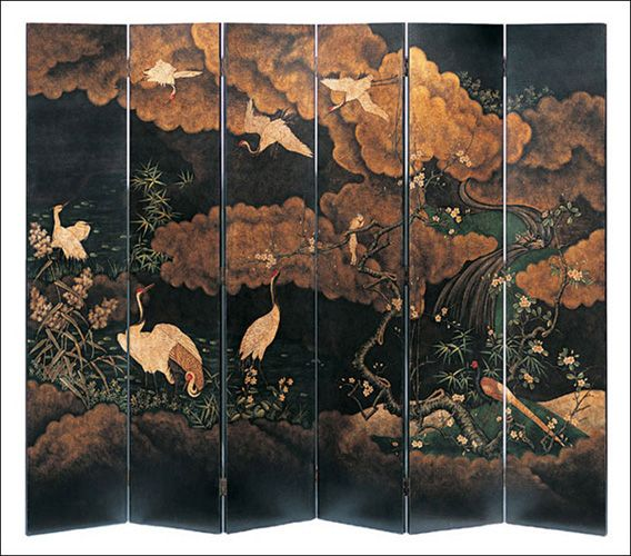 11 best Hand Painted Oriental Screens images on Pinterest Folding