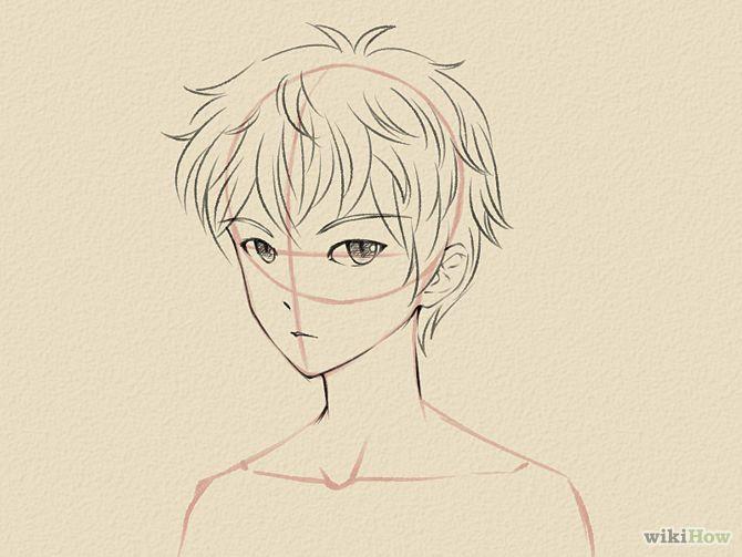 Draw a Manga Face (Male) | Manga drawing, Cartoon drawings ...