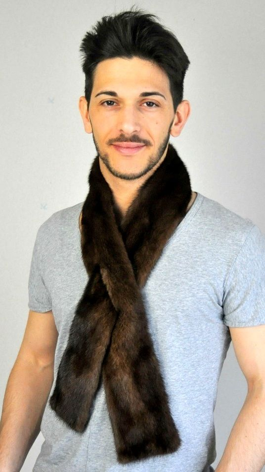 Dark mink fur scarf  www.amifur.co.uk