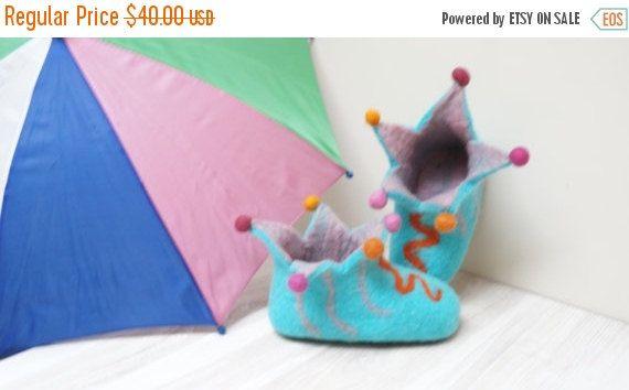 50% CLEARANCE Felt children girl boy booties shoes by feltinga
