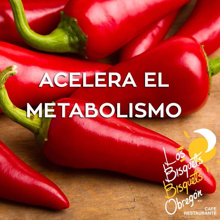Comer chile acelera tu metabolismo por 4  horas, esto combinado con el ejercicio te      ayuda a quemar el doble de calorías.  #BisquetsObregón #LBBO #Chile #Beneficios