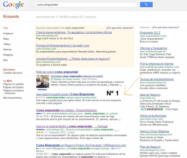 Como conseguir la primera página de Google