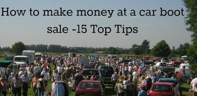 One for you Jess. 15 tips to make money at a car boot sale. #recycle #thrift #eco http://www.healthydinneroptions.com/