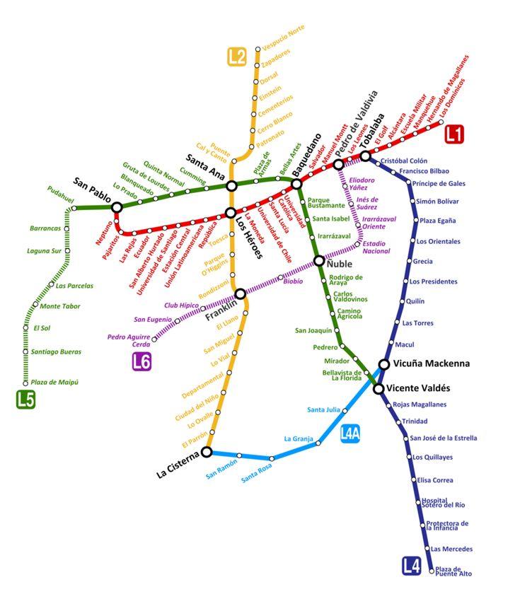 O #metrô de #Santiago, é o sistema de trânsito rápido subterrâneo de Santigo, Chile. Este é o segundo maior sistema de metrô na América Latina, ao lado do metrô da Cidade do México. O sistema completo é altamente sofisticado e foi construído usando a tecnologia mais recente. Em 2012, o metrô foi designado como o melhor sistema de metrô da América.