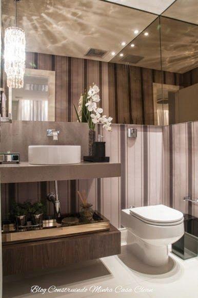 Banheiros/Lavabos Modernos com Pendentes de Cristais!