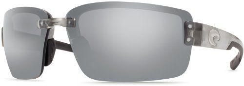 Costa Del Mar Sunglasses - Galveston- Plastic / Frame: Silver Lens: Polarized Silver Mirror 580 Polycarbonate
