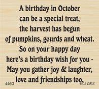 October Birthday Greeting