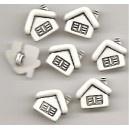 10 x White Matt House Buttons Size approx 16mm