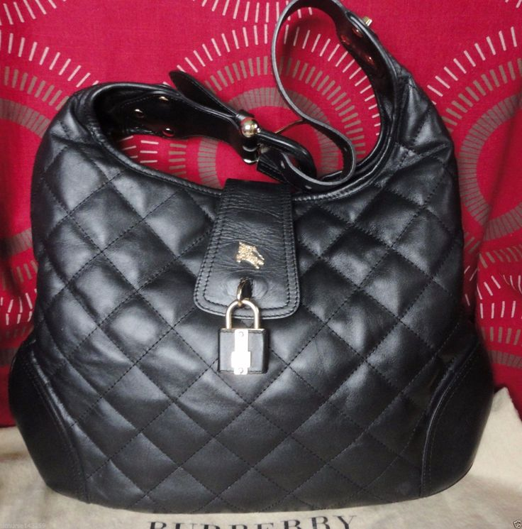 SALE! 100% AUTHENTIC BURBERRY BROOKE QUILTED LEATHER HOBO BAG VERY GOOD UC | eBay