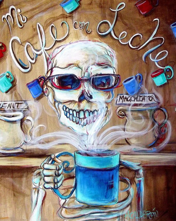 Mi Cafe Con Leche Painting