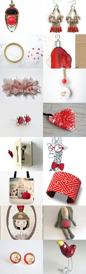 Red kiss by Sofia on Etsy--Pinned with TreasuryPin.com