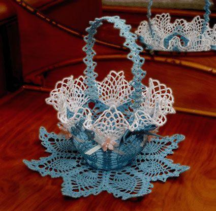 free crochet easter patterns   Vintage Square Grape Doily ...