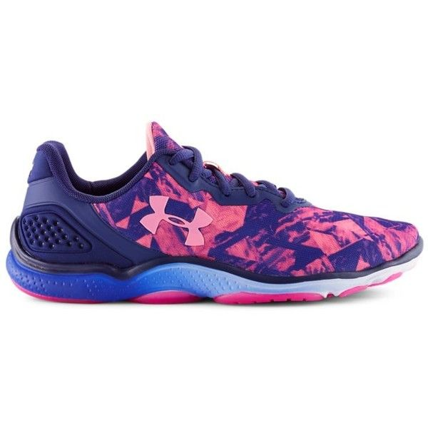 Under Armour Women's UA Micro G Sting 2 Training Shoes ($75) ❤ liked on Polyvore featuring shoes, athletic shoes, europa purple, grip shoes, under armour footwear, under armour, lightweight training shoes and light weight shoes
