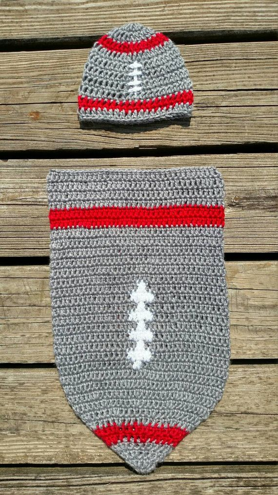 Ohio State Baby Cocoon Set  Ohio State by scarletngreycrochet