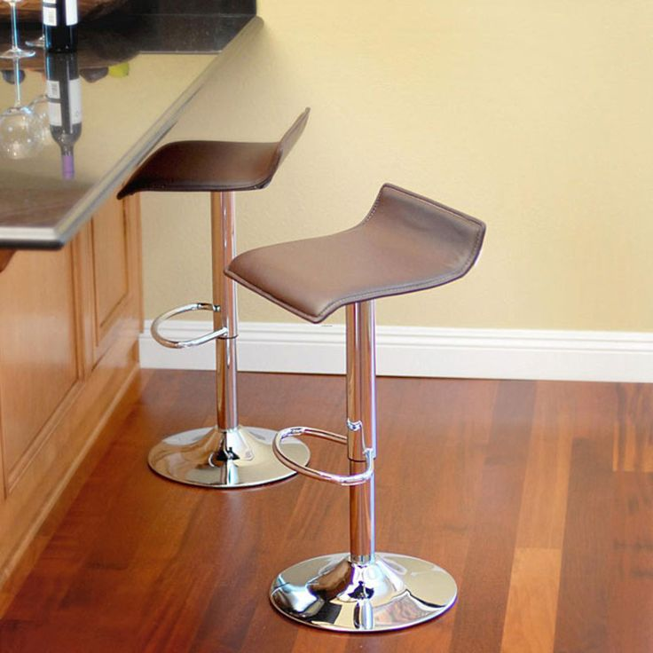The Klein Brown Leather Bar Stools Will Be A Comfortable And Contemporary  Addition To Your Home. Comfortably Entertain Family And Friends While In  The ...