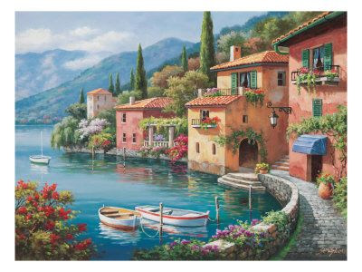 Villagio Dal Lago Art Print at AllPosters.com