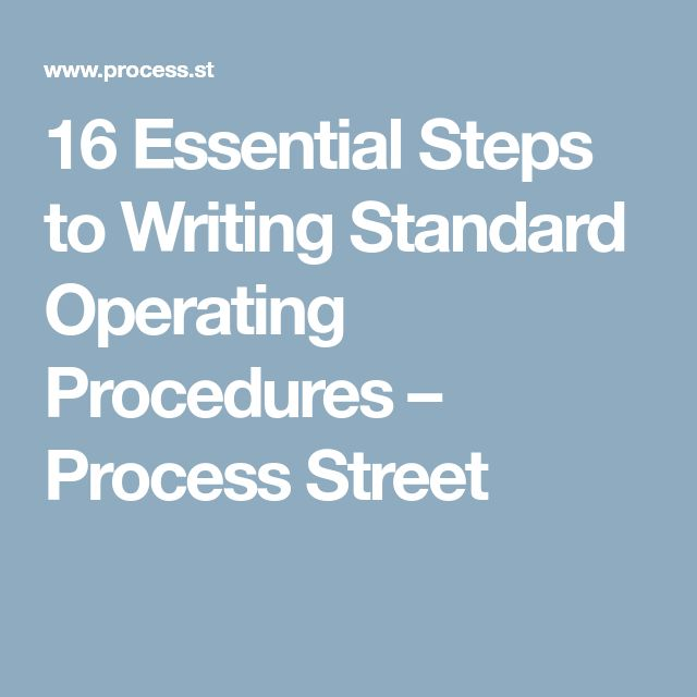 The 25+ best Standard operating procedure ideas on Pinterest - business manual template