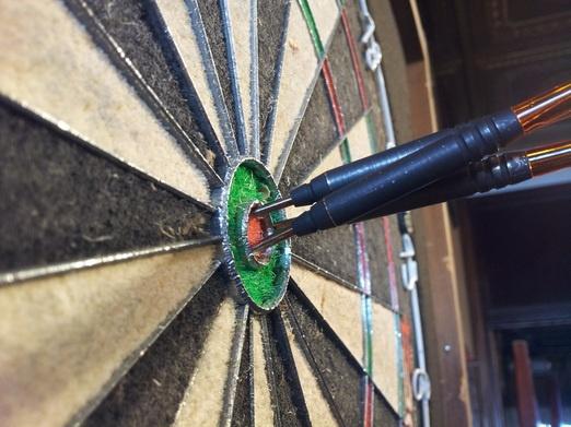 Some nice darts my wife shot. Go Rebecca! <3