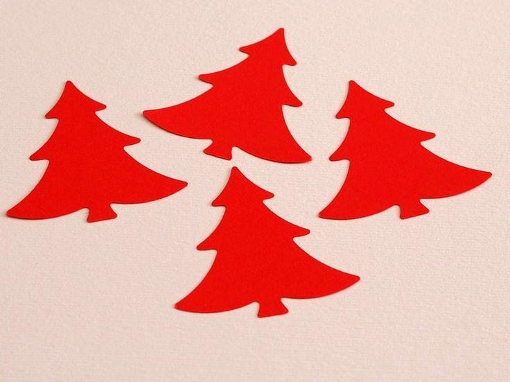 Ritagli - 25 Sagome Alberi di Natale Colore Rosso Taglia L - un prodotto unico…