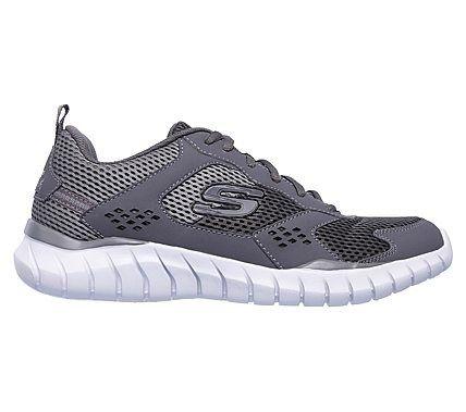 Skechers Men's Overhaul Aukelt Memory Foam Jogger Shoes (Charcoal/Gray)
