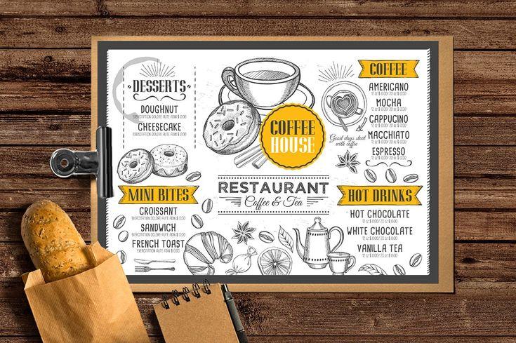 Food menu, restaurant flyer #41 by BarcelonaShop on @creativemarket
