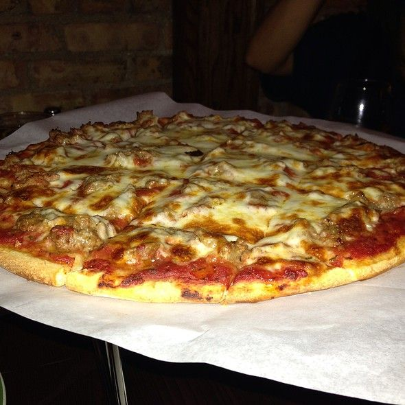 Cheese and Sausage Thin Crust @ Chooch's Pizzeria | @eacvb #eacvb #ResidentRec #Food #Event @Elgin Area Convention & Visitors Bureau