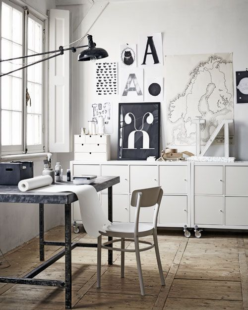 White office space. Via Death by Elocution