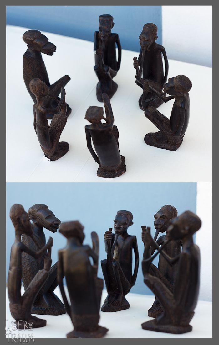 70's Black Wood Sculptures of Men Smoking - Über den Traum
