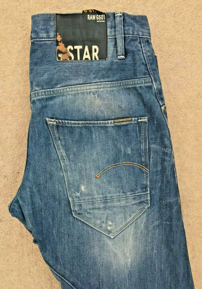 G STAR RAW DENIM JEANS! MENS W30L32! DARK BLUE! ARC