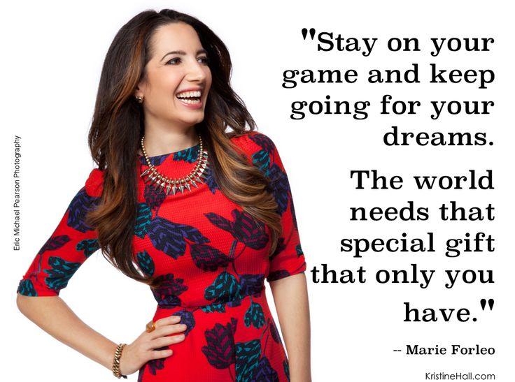 Marie Forleo signature quote | KristineHall.com