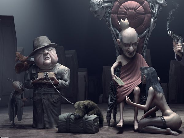 Everybody's fine by Nikita Veprikov, via Behance - sinister and spooky, 2nd and 3rd levels
