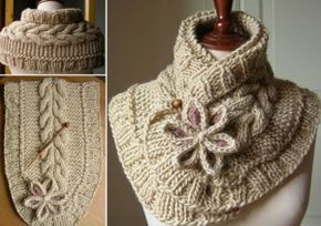 This is a rather unique scarf with beautiful braid-like details along with one flower. You can easily replicate this scarf with the free pattern provided by the Lady Life Hacks blog. See the detail...