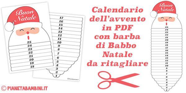 Calendario Avvento Babbo Natale Stampare