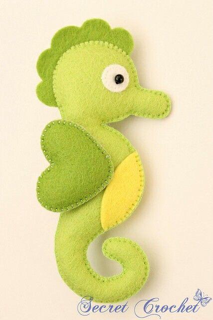 felt seahorse by SecretCrochet