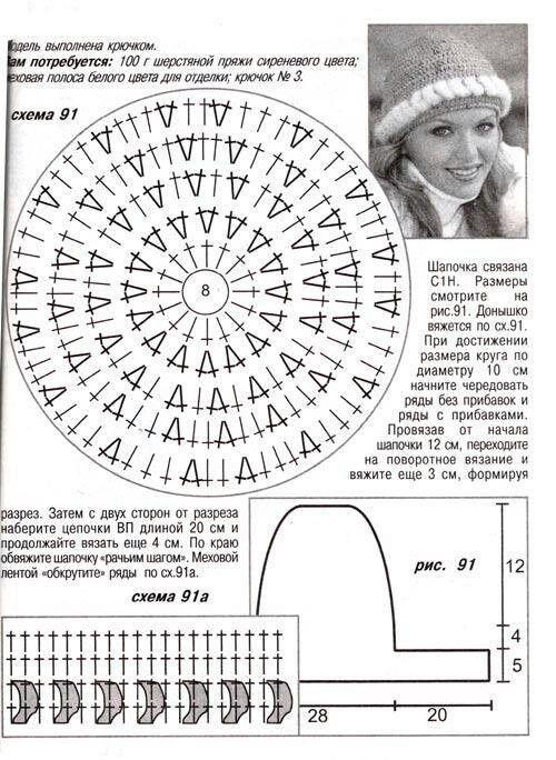 187 mejores imágenes de Gorros en Pinterest | Sombreros de ganchillo ...