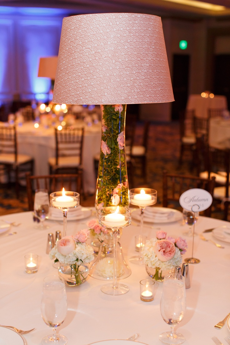 Best images about lampshade floral centerpieces on