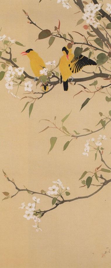 梨花に高麗鶯 Tanaka Isson (Japan, 1908-1977)