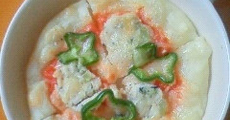 ポテトを使って赤ちゃんにも食べやすい固さのピザ生地に仕上げました^^♪