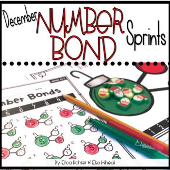 This download is for December/Christmas Ball themed number bond sprints and number bond practice. Number bonds are a great way to build number sense and math fluency. These are print and go. The work-mat comes in a color and black line version. Included in this unit you will find: