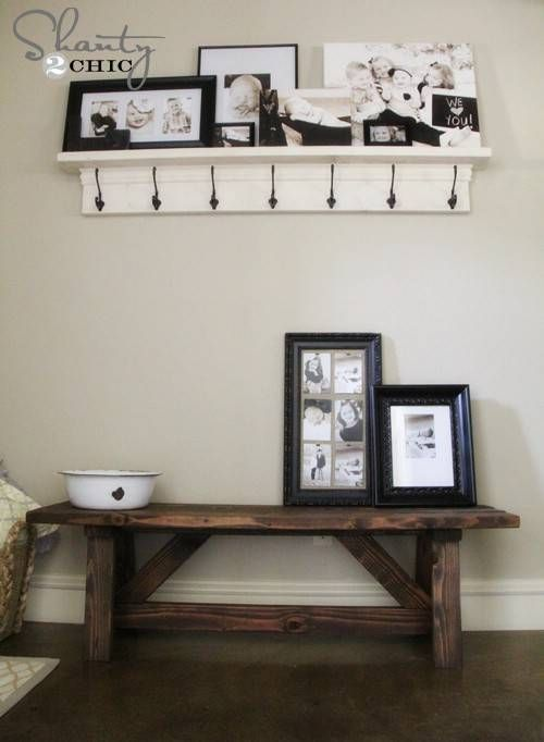 Rustic Entryway Bench - 40 Rustic Home Decor Ideas You Can Build Yourself